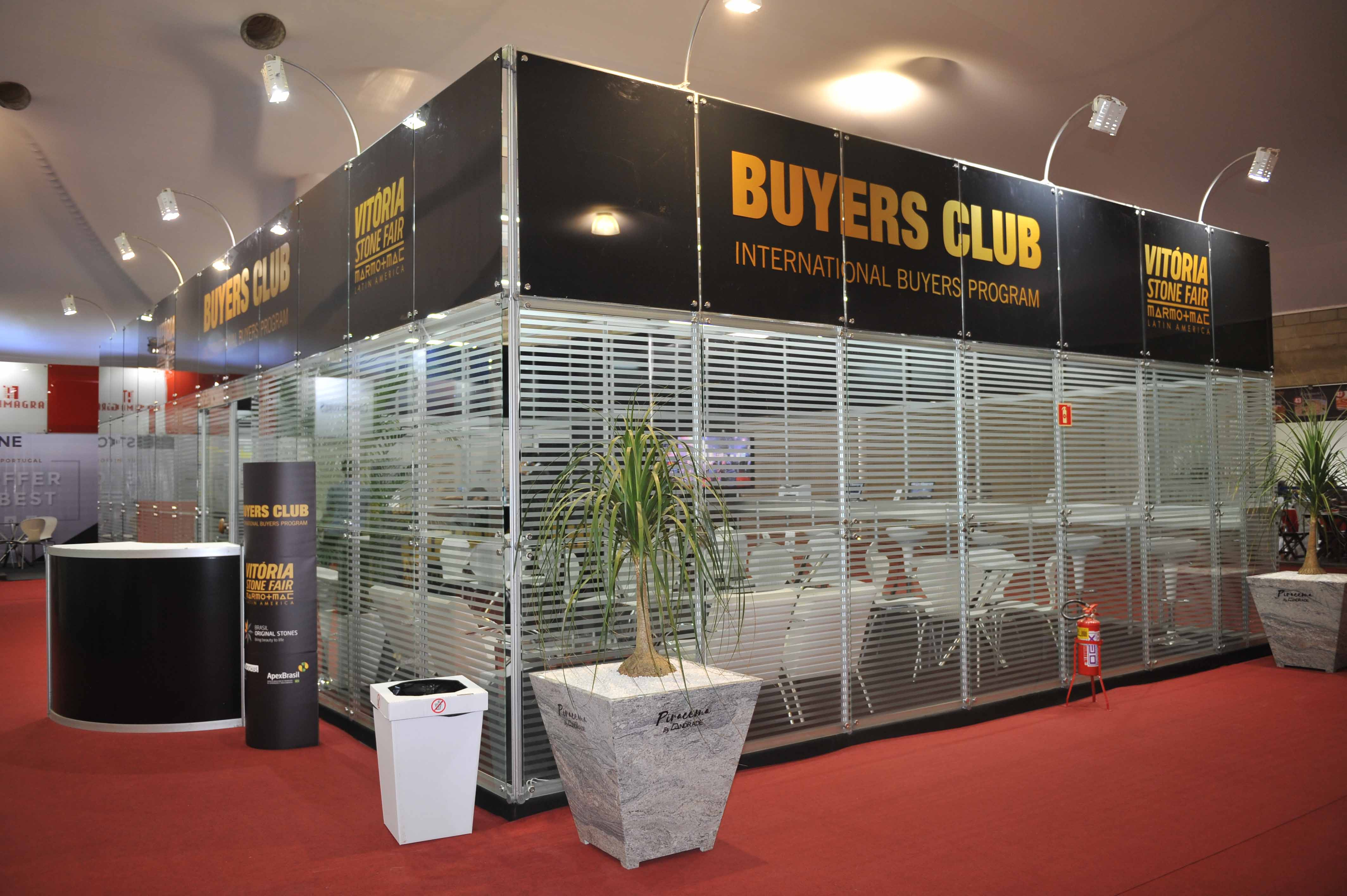 Lounge exclusivo do Buyers Club na Vitoria Stone Fair