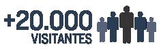 20000 visitantes