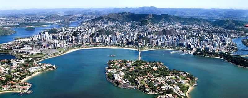 Vista aérea da cidade de Vitória
