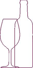 garraf e taça de vinho